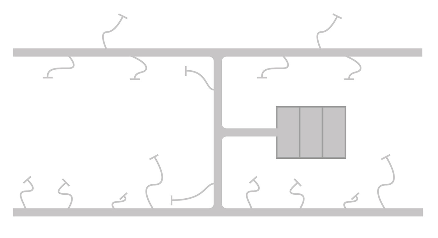 Technical Info - Plenum Layout - H Pattern