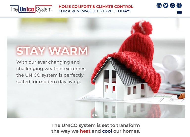 News Unico website home1